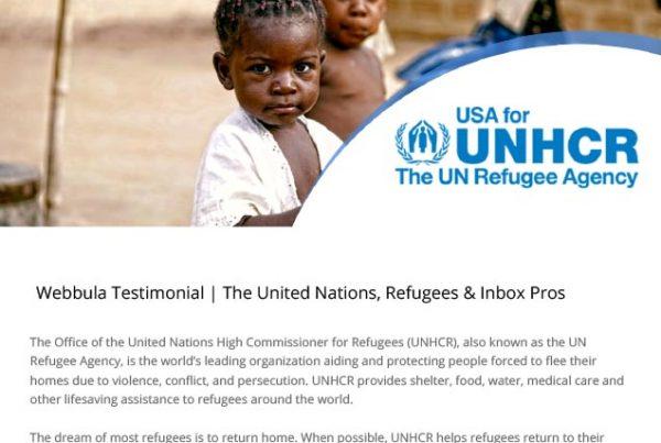 Webbula USA for UNHCR Case Study with InboxPros
